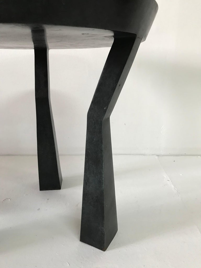 Robert Bray and Michael Schaible Tripod Side Table In Good Condition For Sale In East Hampton, NY