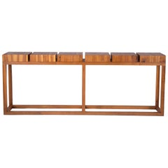 Robert Bristow Solid Walnut Console Table for Ralph Pucci