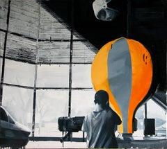 Before Flight - Expressive Contemporary Oil Painting, Realism, Black And White