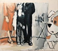 Forgotten Secrets, Reksio - Expressive Contemporary Figurative Oil Painting