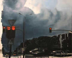 Nice Clouds, Dad - Expressive Contemporary Figurative Oil Painting, Realism