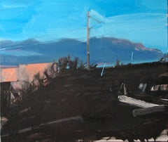 The Edge of Twilight - Expressive Contemporary Figurative Painting, Landscape