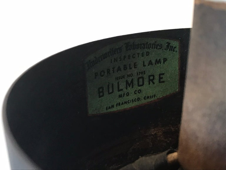 Metalwork Robert Bulmore Iron Lamp For Sale