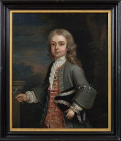 18th Century portrait oil painting of a boy
