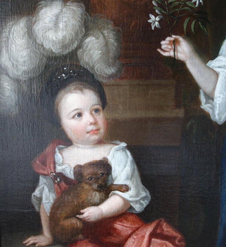 Robert Byng (1666-1720) Portrait of Two Children, English, 17th century. For Sale 4