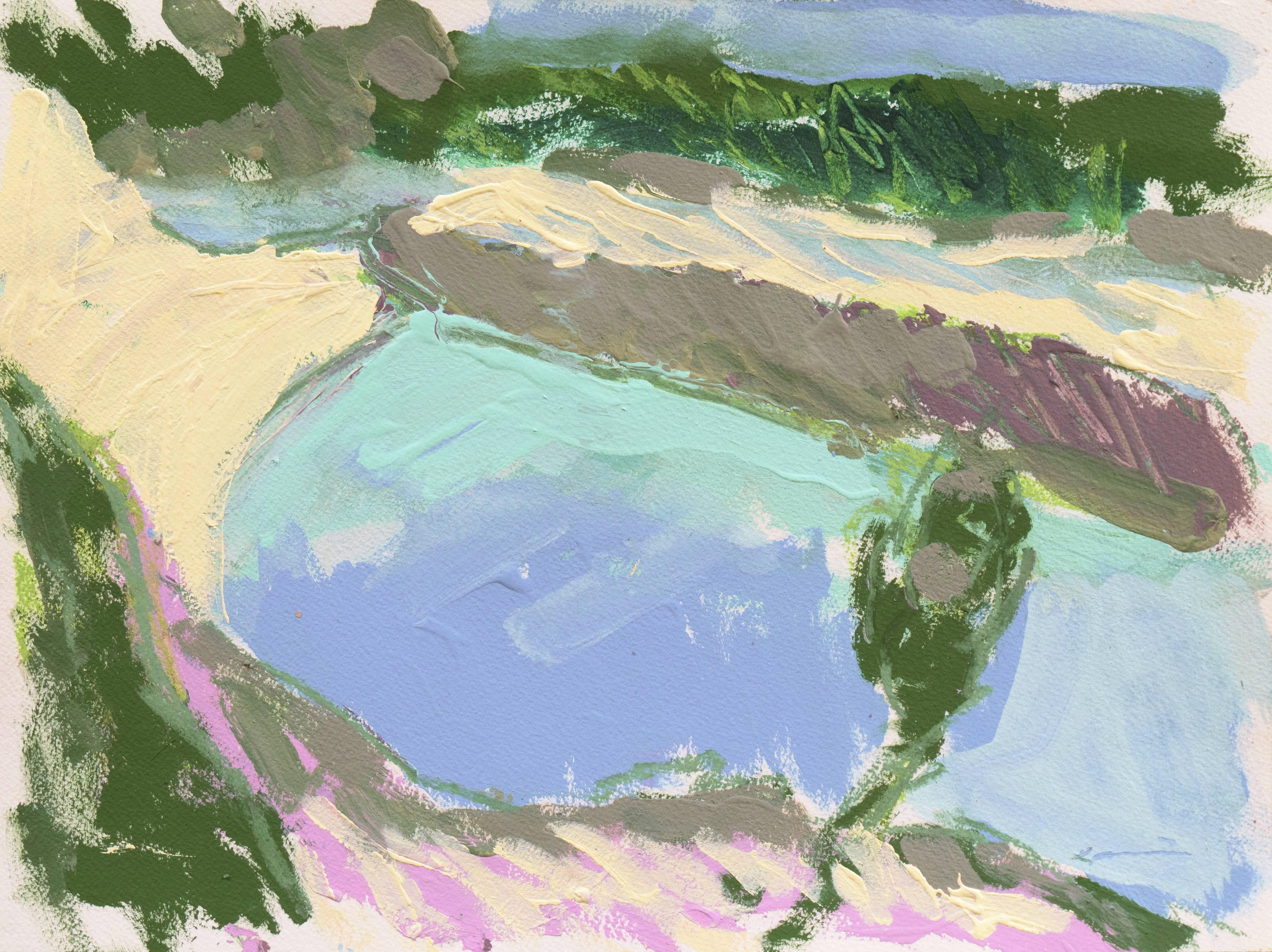 'Hidden Cove, Carmel', Expressionist California Coastal Landscape