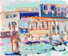 Expressionist View of the Powell Street Cable Car Turnaround, San Francisco