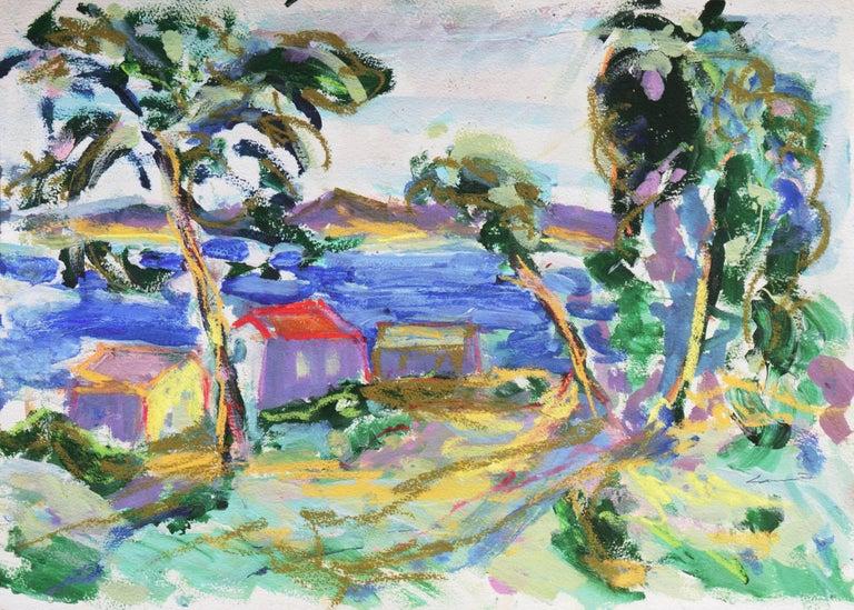 Robert Canete Landscape Painting - 'Fishermen's Shacks, Monterey', Carmel, California Expressionist, Stanford