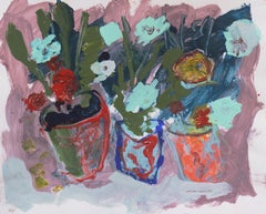 'Flowers in Pots', California Expressionist, Stanford, Carmel