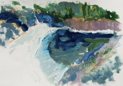 California Post-Impressionist seascape, 'Hidden Cove, Big Sur', Monterey