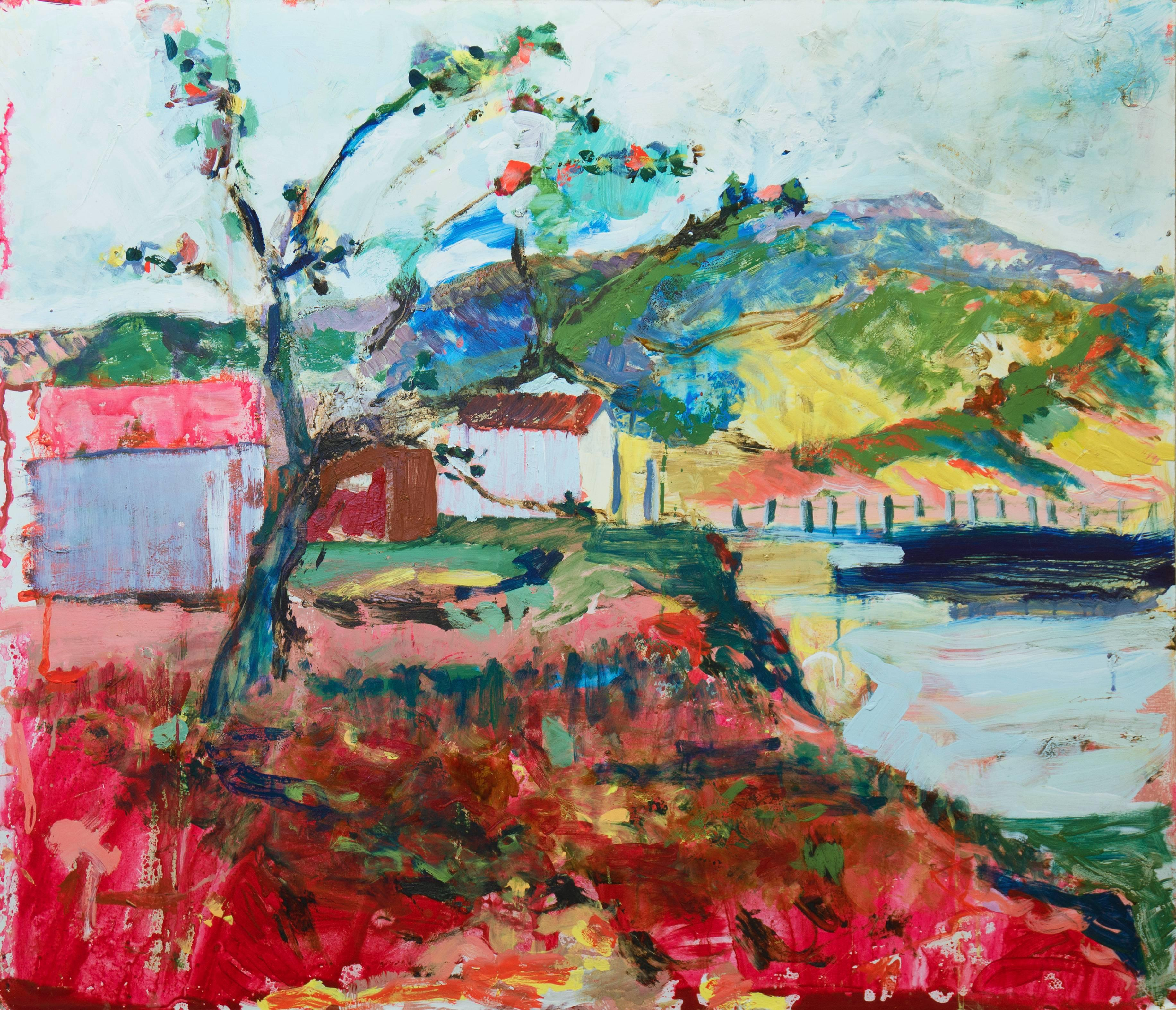 'Blue Hills, Marin, California', Large American Expressionist Oil