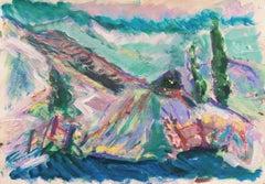 'Monterey Coastal Landscape', California Expressionist, Stanford, Carmel
