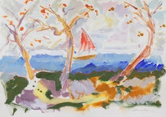 'Sailing off the Coast of Monterey', California Expressionist, Stanford, Carmel