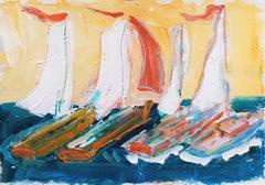 'Monterey Regatta', California Expressionist, Stanford, Carmel
