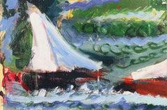 Post-Impressionist seascape, 'Fresh Breeze, Monterey Bay'