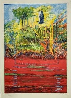 Landscapes - Original Lithograph by Robert Carroll  - 1970s