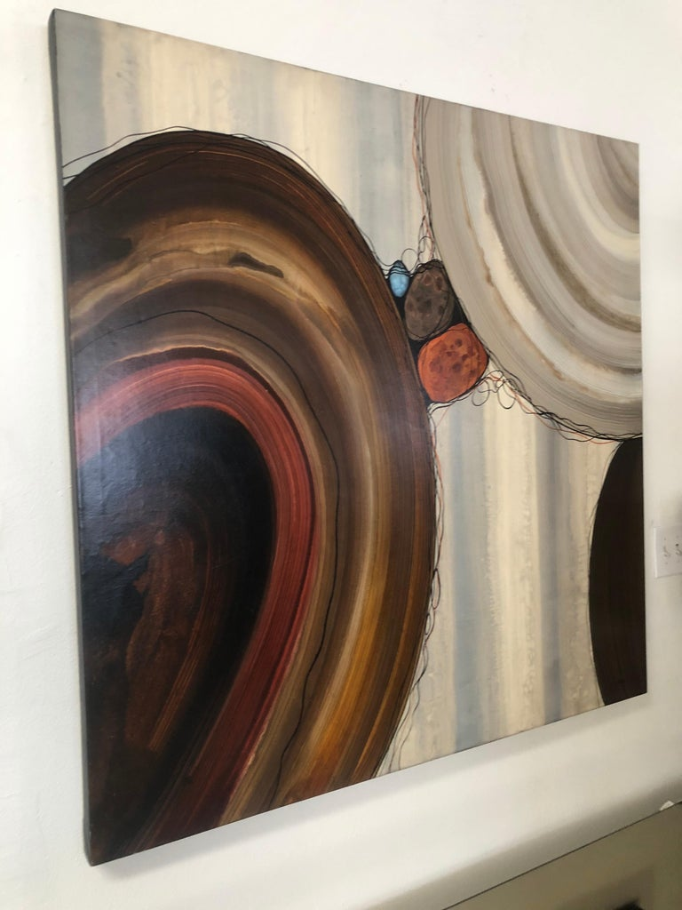 """Robert Charon Large Contemporary Abstract Original """"Orbs"""" Painting For Sale 3"""