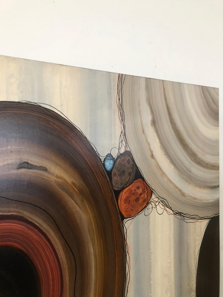 """Robert Charon Large Contemporary Abstract Original """"Orbs"""" Painting For Sale 6"""