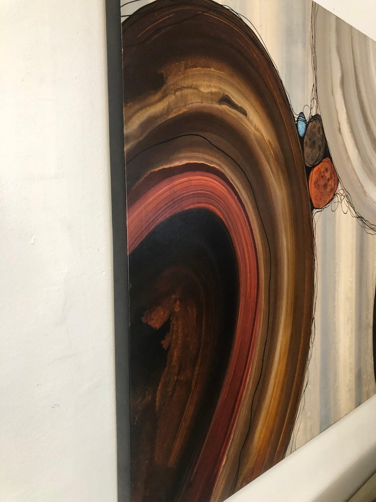 """Modern Robert Charon Large Contemporary Abstract Original """"Orbs"""" Painting For Sale"""