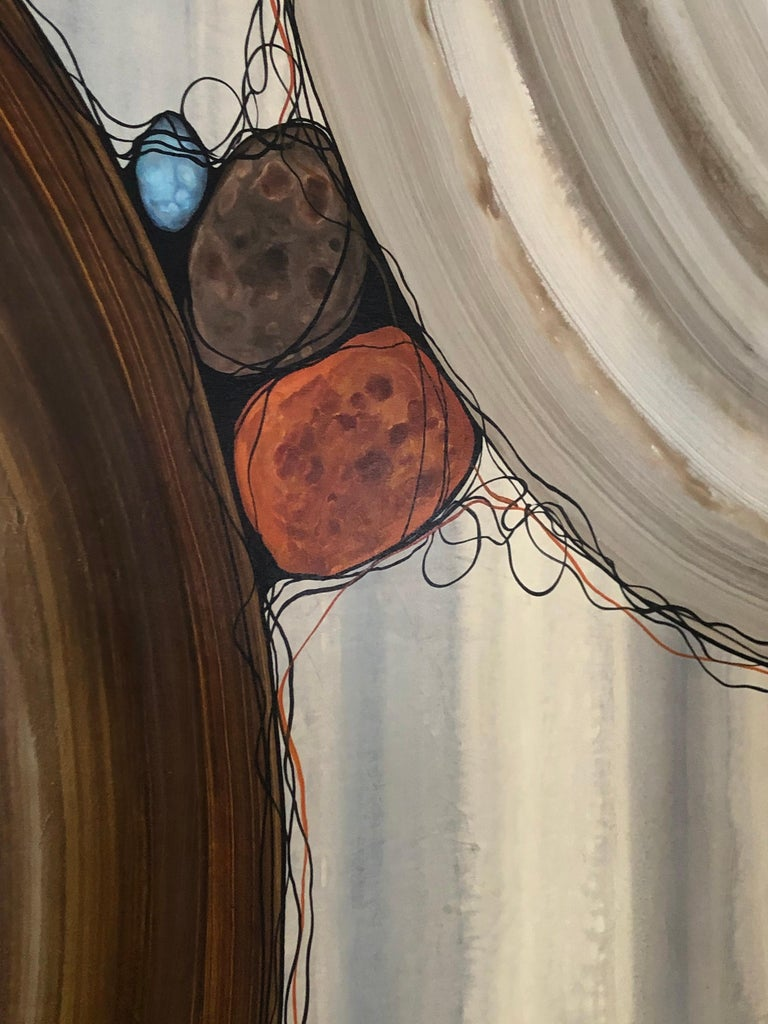 """Other Robert Charon Large Contemporary Abstract Original """"Orbs"""" Painting For Sale"""