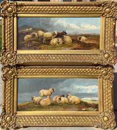 Beautiful Pair of 19th Century Landscapes with Sheep