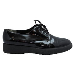 Robert Clergerie Black Patent Leather Oxfords