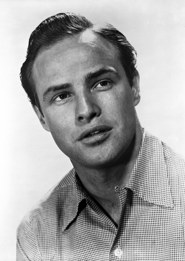 Robert Coburn Black and White Photograph - Marlon Brando: Looking Up Fine Art Print