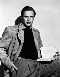 Marlon Brando with Book Fine Art Print