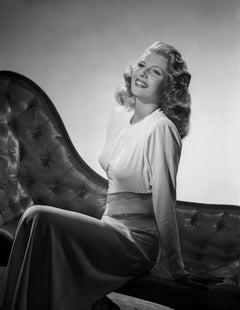 Rita Hayworth Leaning Back and Smiling Movie Star News Fine Art Print