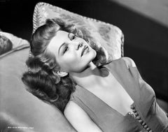 Rita Hayworth Lounging Fine Art Print