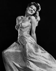 Rita Hayworth Smiling in Gown Fine Art Print