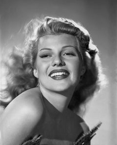 Rita Hayworth Smiling in the Studio Movie Star News Fine Art Print