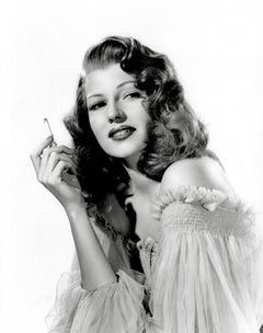 Rita Hayworth Smoking Globe Photos Fine Art Print