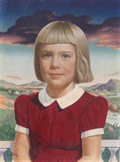 1940's Young Blonde Girl Portrait