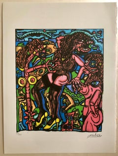 French Artist, Print Limited Edition Number 22/150 with Editing certificate