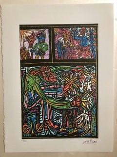 French Artist, Print Limited Edition Number 49/150 with Editing certificate