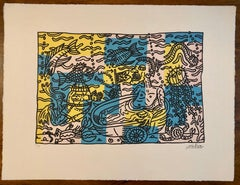 French Artist Print Limited édition number 65/89 with Editing certificate,1996
