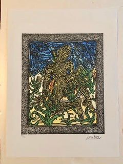 French Artist, Print Limited Edition number 74/15 with Editing Certificate