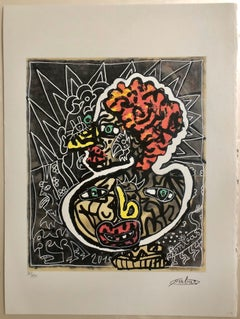 French Artist, Print Limited Edition Number 86/150 with Editing certificate