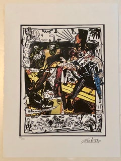 French Artist, the Murderer Limited Edition n° 40/150 with Editing Certificate