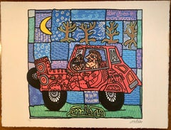 French Artist,Maria's Car Limited Edition n° 82/89 with Editing certificate 2003