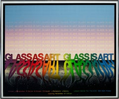 'Glass as Art, Glass is Art' original serigraph poster signed by Robert Danner