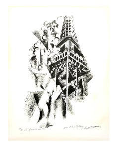 (after) Robert Delaunay - La Femme et la Tour - Handsigned Lithograph