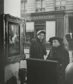 Woman Registering Shock at a Painting of a Nude in Paris Shop Window, 1948