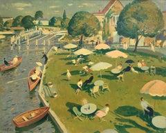 The Thames at Marlow - Modern British oil by Robert Duckworth Greenham