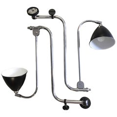 Robert Dudley Best Gubi BL10 Pair of Wall Lights in Black Shade and Chrome