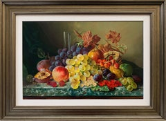 Beautiful Colourful Still Life Oil Painting of Fruit by Famous British Painter