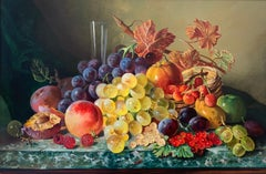 Still Life Oil Painting of Fruit by British Painter Robert Dumont-Smith