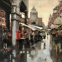La Chiesa De San Giacomo Di Rialto Venice original city scape oil painting