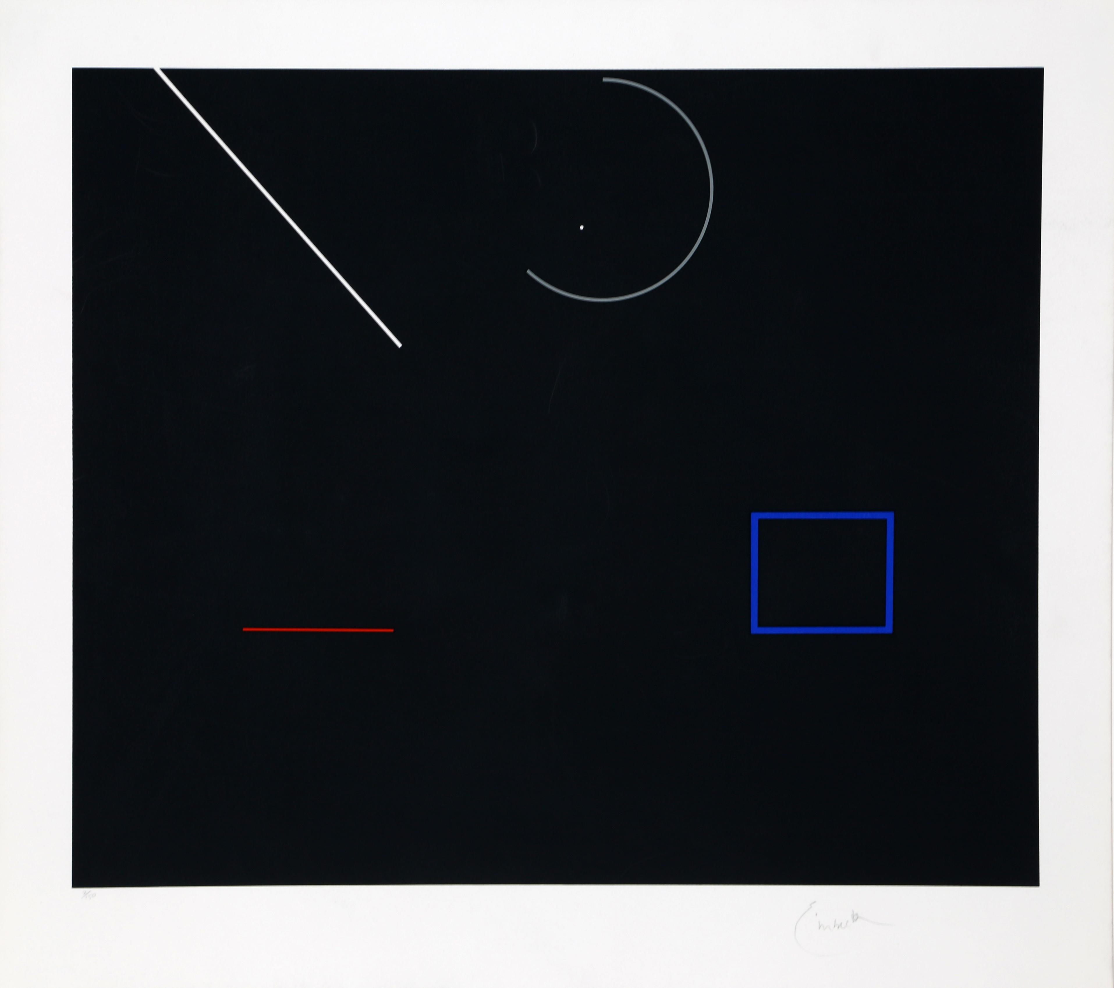 Abstract Serigraph II by Robert Einbeck